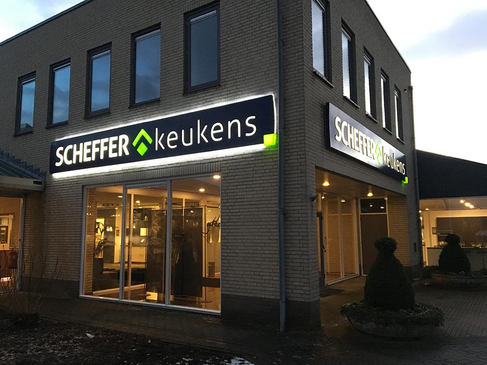 Scheffer Keukens Zelhem : Scheffer keukens gevel reclame gevel reclame